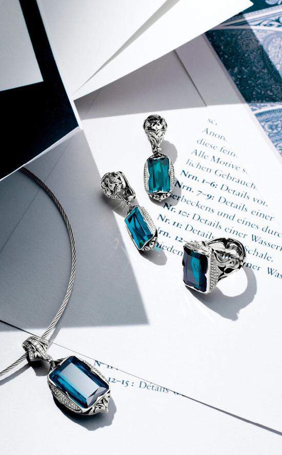 皇家印记系列 《天鹅之爱》 珐琅、蓝碧玺套装