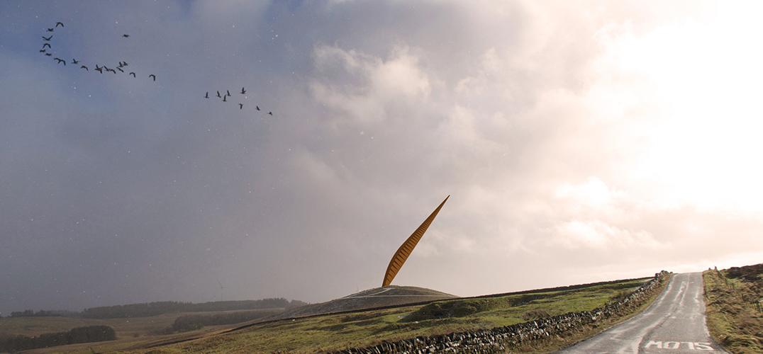 200吨柱体雕塑致敬英国女王