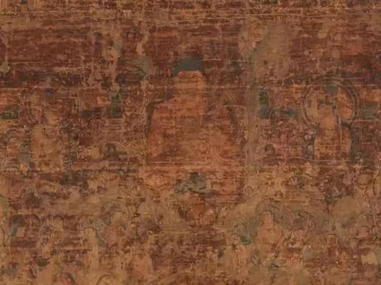 ▲奈良当麻寺藏《缀织当麻曼荼罗》 奈良时代(8世纪)