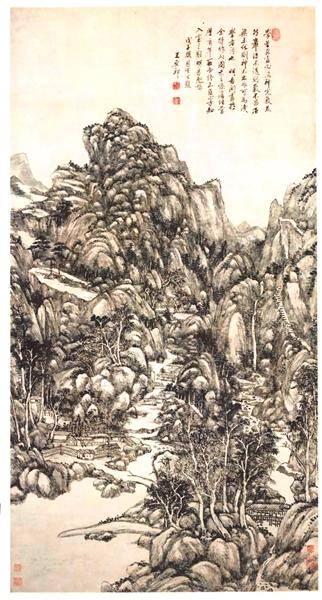 从1641年开始,离职回到家乡的王鉴,专注于绘事,系统研究了古人绘画,宗