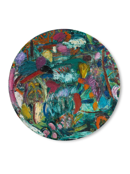 Gillian Ayres 吉莲·艾尔斯_Lucas 卢卡斯_1985_Oil on canvas 布面油画_D243cm