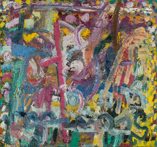 Gillian Ayres_Where the Bee Sucks 蜂采蜜的地方_1981-1982_Oil on canvas 布面油画_227.3 x 242.5 cm