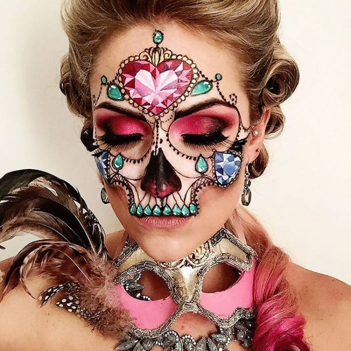 artistic-face-paint-vanessa-davis-the-skulltress-7