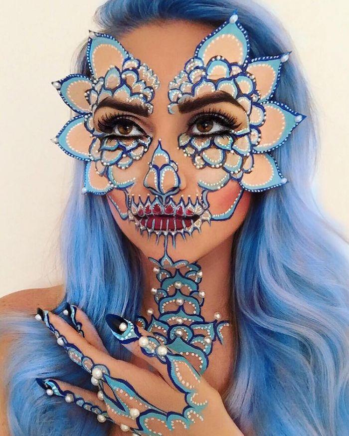 artistic-face-paint-vanessa-davis-the-skulltress-4