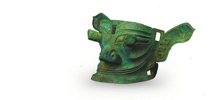 """形似外星人的""""纵目青铜面像"""" 是蜀人祖神"""