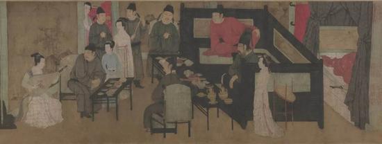 顾闳中《韩熙载夜宴图》(局部) 故宫博物院藏