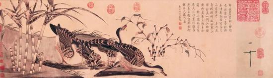赵佶《柳鸦芦雁图》 上海博物馆藏