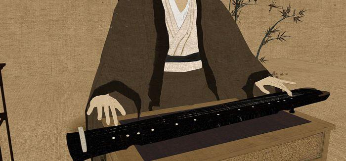 窥探藏画之中古琴与先贤的关系