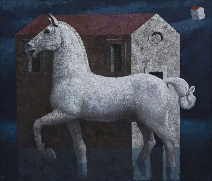 马提亚斯·布兰迪 《卡瓦洛》布面油画 120x140cm 2018年
