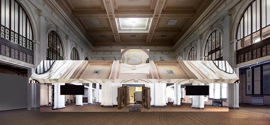 沉浸式镜面装置空间入驻底特律银行