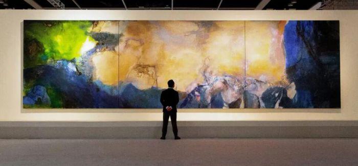5.1亿 赵无极尺幅最大油画香港苏富比拍出