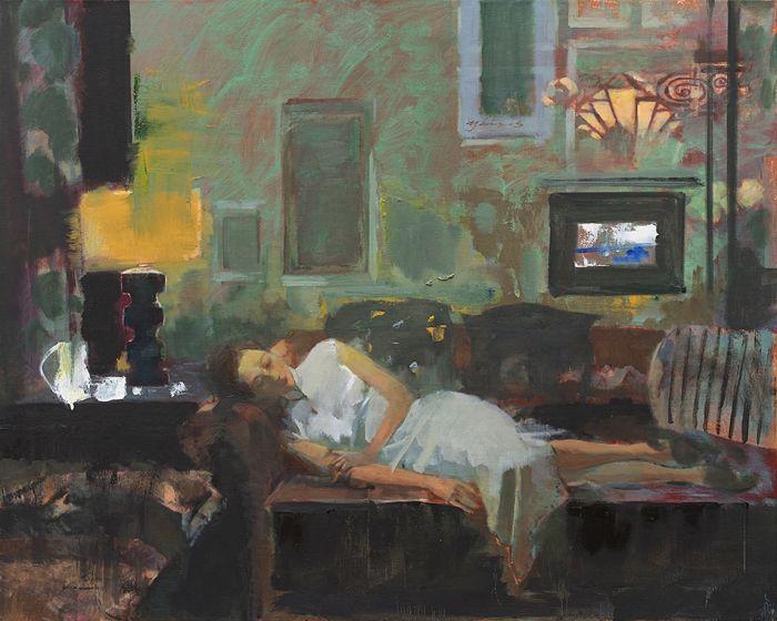 浮尘 Floating Dust-石滢 Shi Ying-油画 Oil Painting-80x100cm
