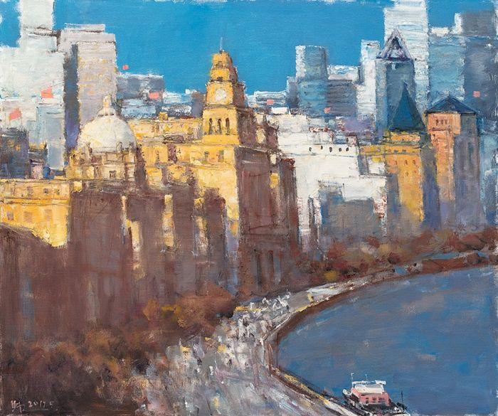 城市的温度Temperature of the City黄阿忠Huang Azhong油画 Oil Painting100x120cm