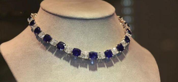佳士得呈献喀什米尔天然皇家蓝蓝宝石项链