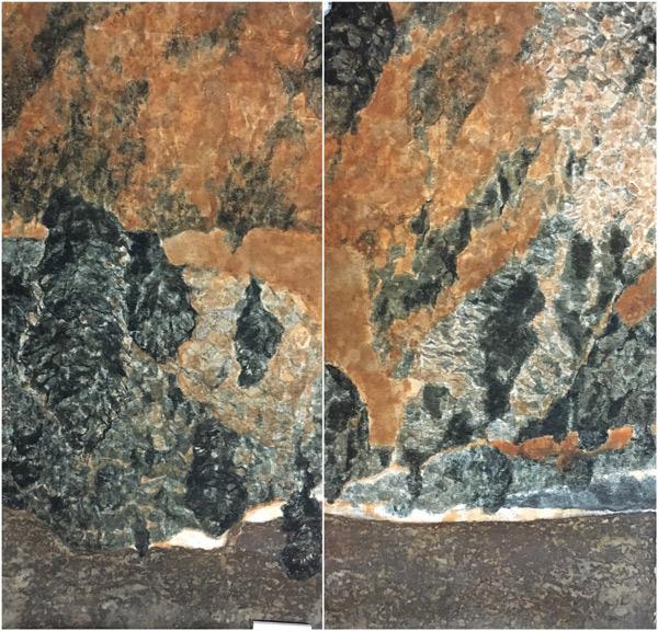祝彦春--景迈山的黄昏--200×200cm--纸上自然物质--2016