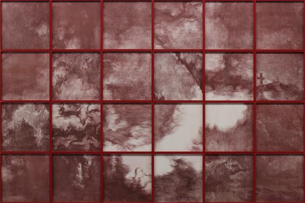 苏新平--红之一--112x168cm(28×28cm×24)--铜版画--2017