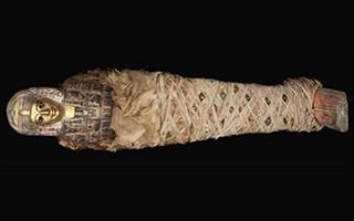 湖北省博物馆开馆 同期展出古埃及文物