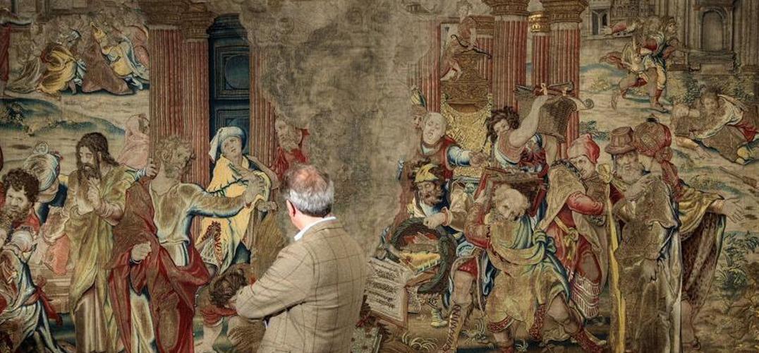 """亨利八世""""金丝银线""""挂毯丢失近300年后被发现"""