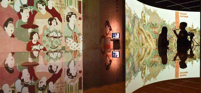 敦煌流散海外文物复制展在敦煌国际会展中心展出
