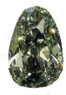 德累斯顿绿钻石(Dresden Green)重40.7克拉,梨形,其色泽鲜艳,净度高(VS1),是迄今为止全球克拉重量最大、品质最高的天然绿钻石。