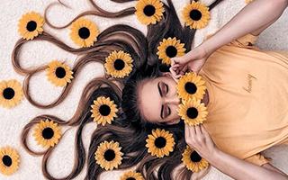 鲜花与长发