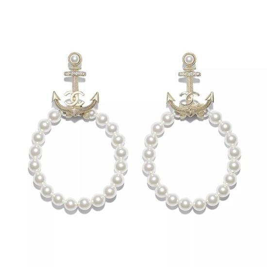 Chanel 香奈儿淡水珍珠耳饰