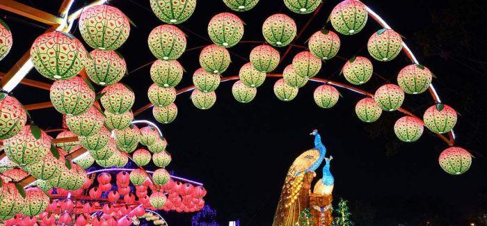 四川自贡彩灯点亮日本游乐园