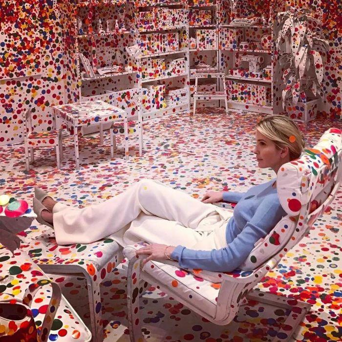 美国总统特朗普女儿伊万卡与The Obliteration Room,草间弥生|这世界很糟,但我依然热爱,这世界,草间弥生,圆点,波点,南瓜,日本,工作室,天才,纪录片,父亲