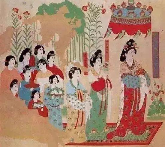"""服饰丨她们是从煌壁画中""""活""""过来的霓裳美人,壁画,服饰,霓裳,美人,敦煌,莫高窟,楚艳,人像,东壁,妆容"""