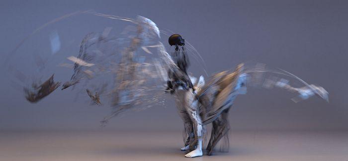 当肢体幻化为力量与线条