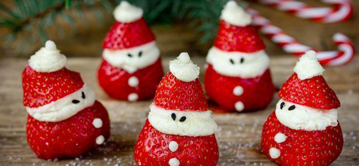 红配绿配白 草莓的圣诞气质