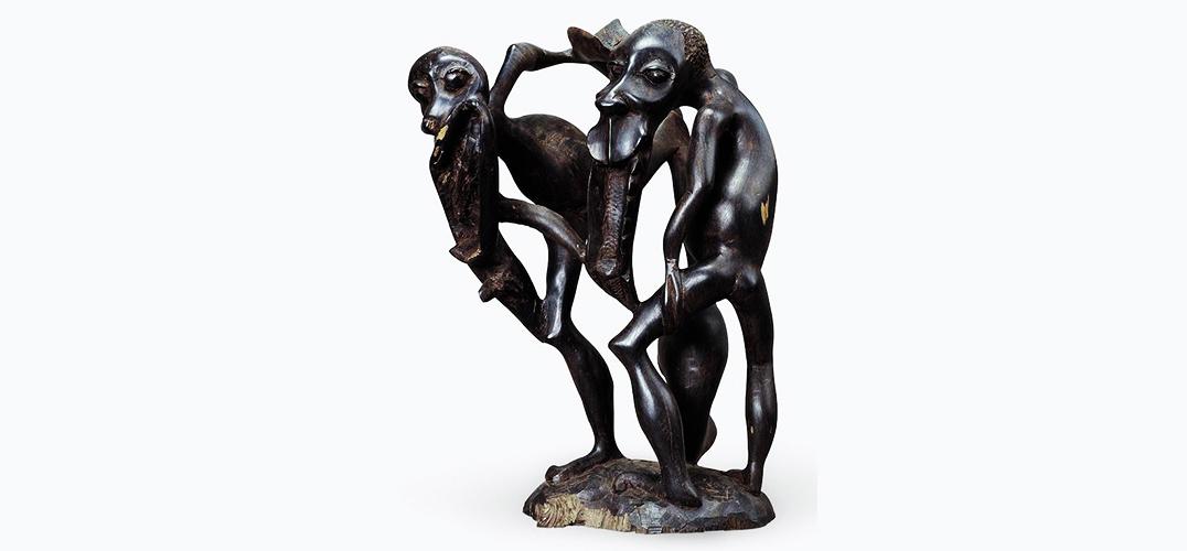 中国美术馆展出非洲木雕 感受非洲的质朴