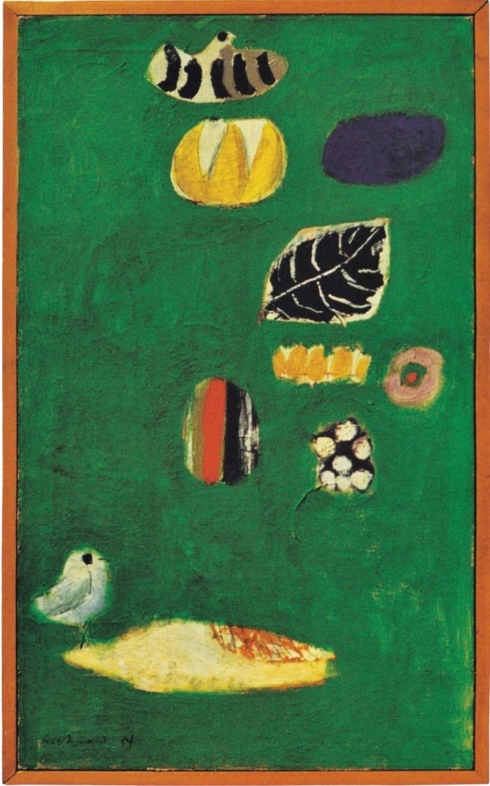 图注5:帆布上的油画。说明见图注2。,设计的意义:保罗·兰德谈设计、形式与混沌,保罗·兰德,兰德,保罗,设计师,美学,直觉,实质,乔布斯,毕加索,耶鲁大学