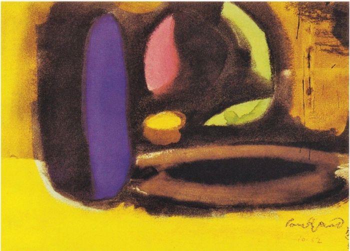 图注4:水彩画,1952 年。说明见图注2。,设计的意义:保罗·兰德谈设计、形式与混沌,保罗·兰德,兰德,保罗,设计师,美学,直觉,实质,乔布斯,毕加索,耶鲁大学