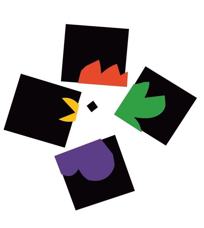 图注3:纽约艺术导演俱乐部的海报,1988 年。抽象与具象的结合。,设计的意义:保罗·兰德谈设计、形式与混沌,保罗·兰德,兰德,保罗,设计师,美学,直觉,实质,乔布斯,毕加索,耶鲁大学