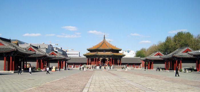 沈阳故宫修复进行中 大政殿重现往昔神韵