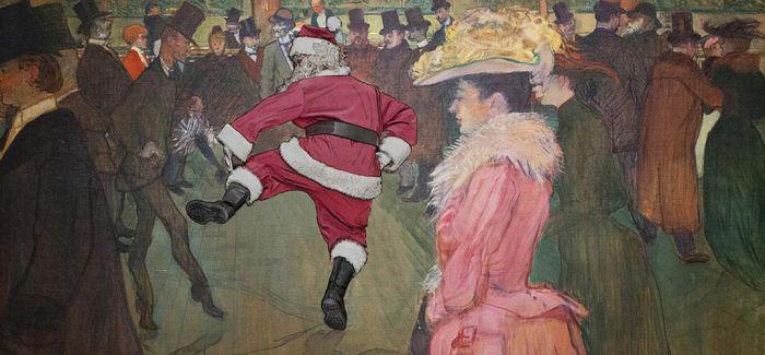 圣诞老人竟然在名画中成为了一道风景