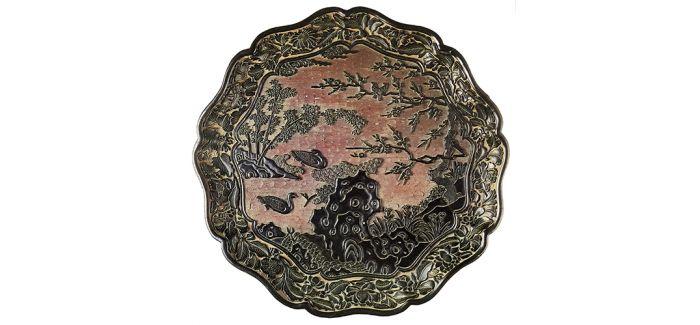 大英博物馆中的元明雕漆盘