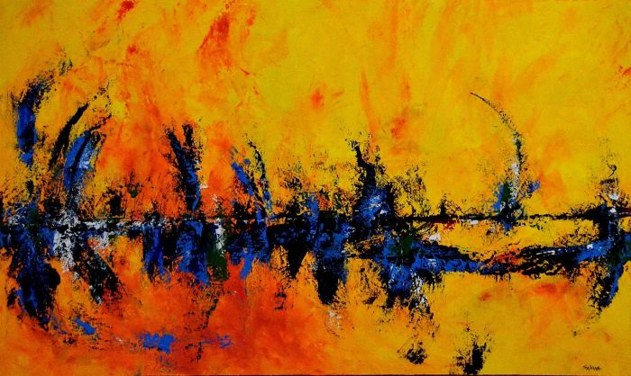 Abstract-Art-Painting-Sabina-D-Antonio-Cafe-Delight