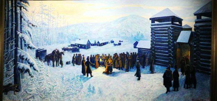 2019哈尔滨国际冰雪节俄罗斯油画展开幕