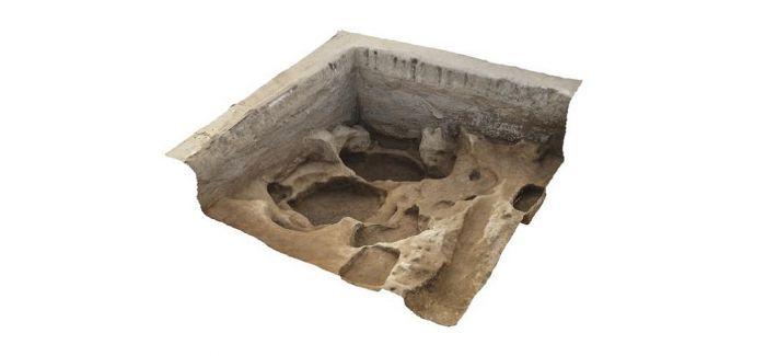 西安马腾空遗址现270多座东周时期秦墓