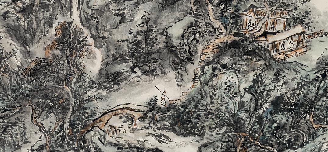 申晓国画展香港开幕 看中国书画如何溯本追原