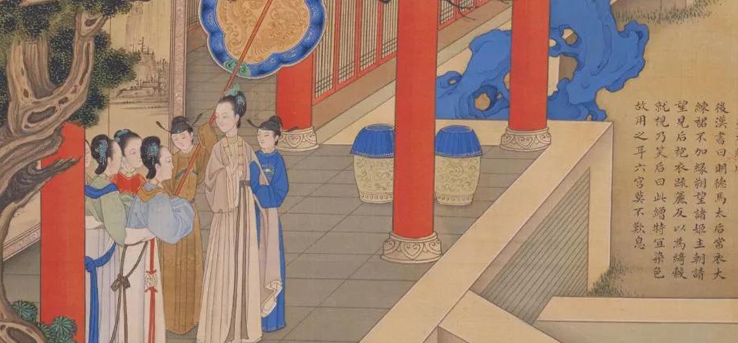 康熙瓷器之上的仕女图