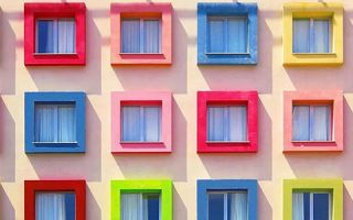 五彩斑斓的建筑