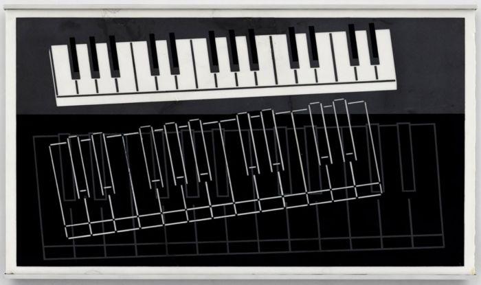 《键盘》,1932年,卓纳画廊   纽约   约瑟夫·阿尔伯斯:音速阿尔伯斯   Josef Albers: Sonic Albers,阿尔伯斯,Albers,音速,Sonic,约瑟夫·阿尔伯斯,卓纳,约瑟夫,安妮,阿尔伯斯基金会,权利