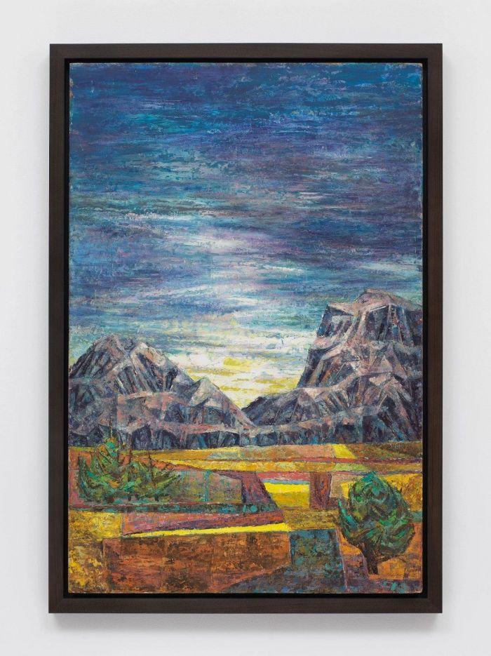 《风景》,约1957-1959年,卓纳画廊 | 纽约 | 查尔斯·怀特:不朽的练习 | Charles White: Monumental Practice,卓纳,White,查尔斯·怀特,Monumental,怀特,壁画,玛丽,绘画,麦克里欧德,贝颂