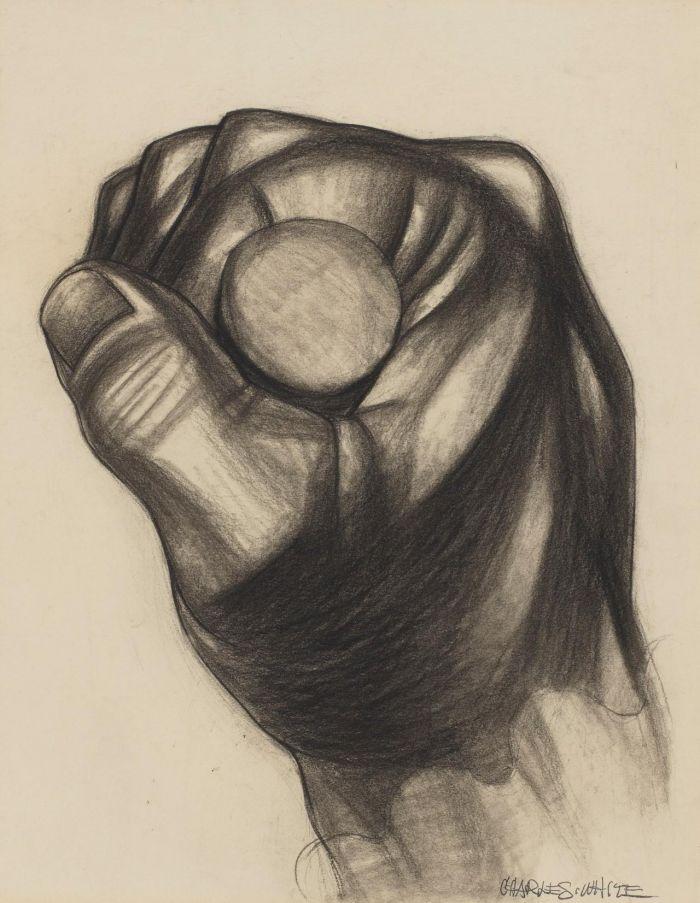 《托里的手》,约1943年,卓纳画廊 | 纽约 | 查尔斯·怀特:不朽的练习 | Charles White: Monumental Practice,卓纳,White,查尔斯·怀特,Monumental,怀特,壁画,玛丽,绘画,麦克里欧德,贝颂