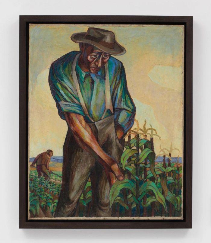 《佃农》,约1947-1948年,卓纳画廊 | 纽约 | 查尔斯·怀特:不朽的练习 | Charles White: Monumental Practice,卓纳,White,查尔斯·怀特,Monumental,怀特,壁画,玛丽,绘画,麦克里欧德,贝颂