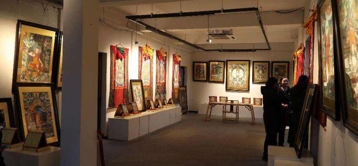 40幅西藏昌都特色传统手绘唐卡福州展出