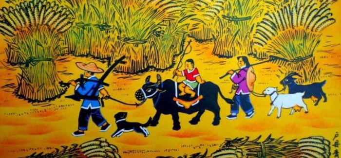 传统与科技跨界融合 户县农民画迎春画展在西安举办